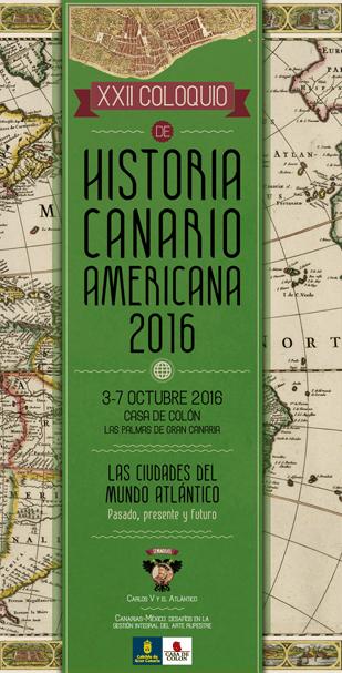 Cartel del XXII Coloquio de Historia Canario Americana